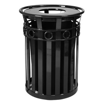Trash Disposal - 36 Gallon Oakley Decorative Slatted Receptacle