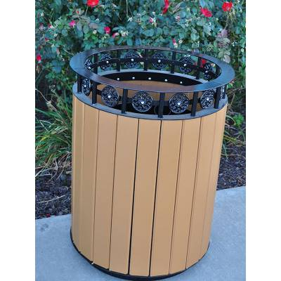 12 and 20 Gallon Jamestown Recycled Plastic Trash Receptacle - Quick Ship - Image 2