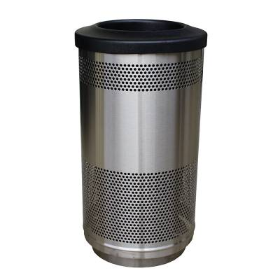 Trash Disposal - Recycling Receptacles - 35 Gallon Perforated Metal Recycling Container