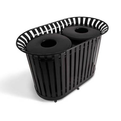 Trash Disposal - Recycling Receptacles - 72 Gallon Dual Lexington Trash Receptacle