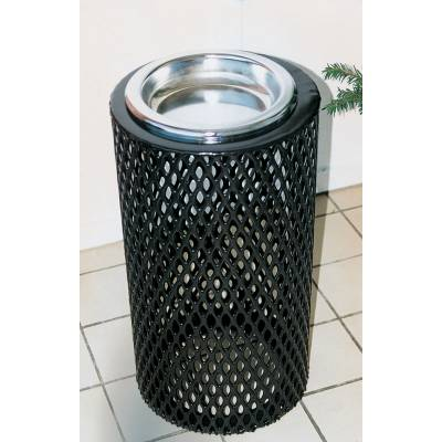 Trash Disposal - Outdoor Ash Receptacles - Round Ash Urn