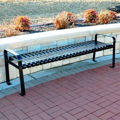 Park Benches - Coated Metal - 6' Aspen Backless Bench - Portable/Surface Mount - Quick Ship