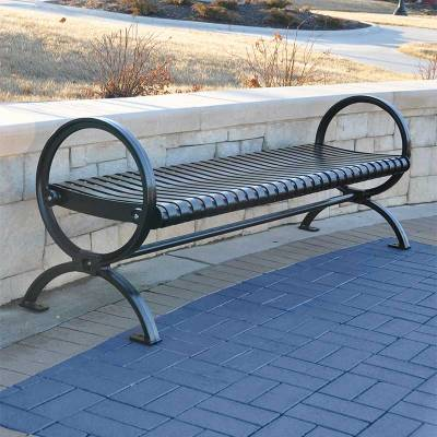 Park Benches - Coated Metal - 6' Wellington Backless Bench - Portable/Surface Mount - Quick Ship