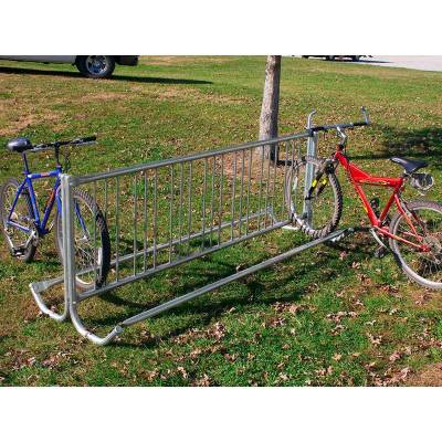 Commercial Bike Racks - Modern Double Sided Bike Rack