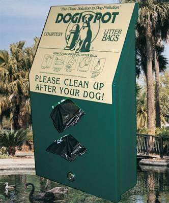 Pet Waste - Dogipot Junior Bag Dispensers - Aluminum