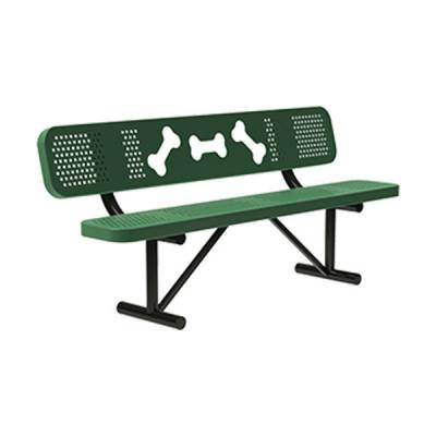 Pet Waste - 6' Dogipot Bone Bench