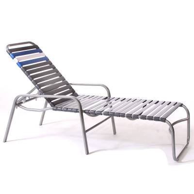 Poolside Furniture - Vinyl Strap Furniture - Welded Contract Siesta Stacking Strap Chaise