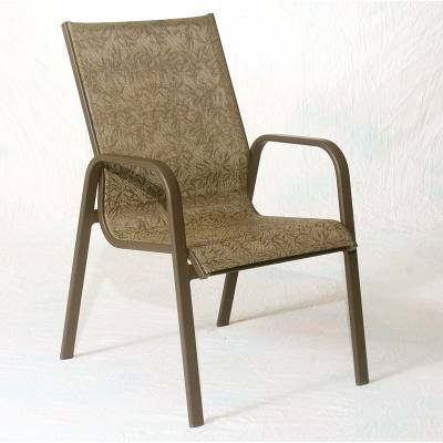 Poolside Furniture - Patio Sling Furniture - Siesta Low Back Stacking Sling Chair