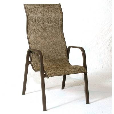 Poolside Furniture - Patio Sling Furniture - Siesta High Back Stacking Sling Chair