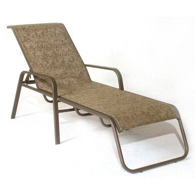 Poolside Furniture - Patio Sling Furniture - Siesta Sling Stacking Chaise Lounge