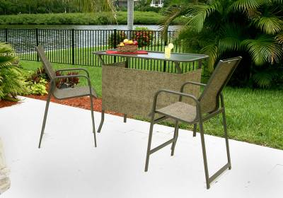 Siesta Low Back Stacking Sling Chair - Image 2