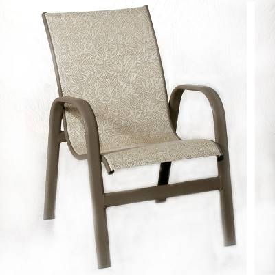 Poolside Furniture - Bonaire Low Back Stacking Sling Chair