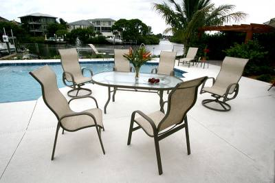 Bonaire Low Back Stacking Sling Chair - Image 2