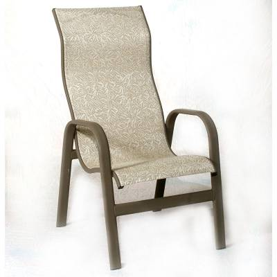 Poolside Furniture - Patio Sling Furniture - Bonaire High Back Stacking  Sling Chair - Sling Patio - Patio Sling Chair Our Designs