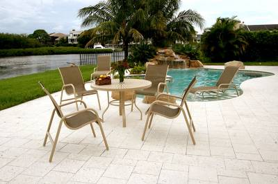 Lido Low Back Stacking Sling Chair - Image 2