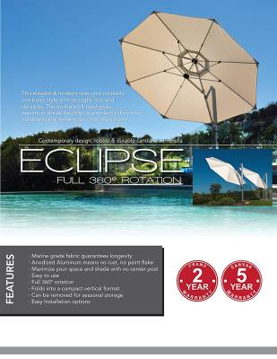 Frankford Eclipse 13 ft. Octagon Cantilever Umbrella - Image 6