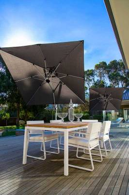 Frankford Aurora 9 Ft. Square Cantilever Umbrella - Image 1