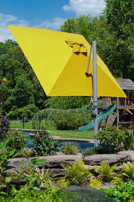 Frankford Aurora 9 Ft. Square Cantilever Umbrella - Image 3