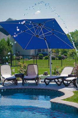 Frankford Aurora 9 Ft. Square Cantilever Umbrella - Image 6