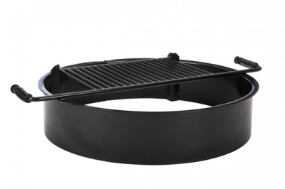 "Grills and Fire Rings - Fire Rings - 30"" x 9""Ht. Non-Adjustable Fire Ring - Single Flange"