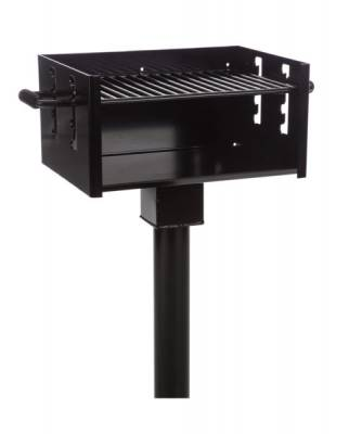 Grills and Fire Rings - Park Grills - Large Park Grill, 334 Sq. Inch - Inground Mount