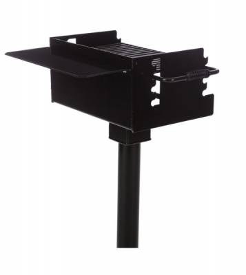 Grills & Fire Rings - Large Park Grill with Tilt Back Grate, 334 Sq. Inch - Inground Mount