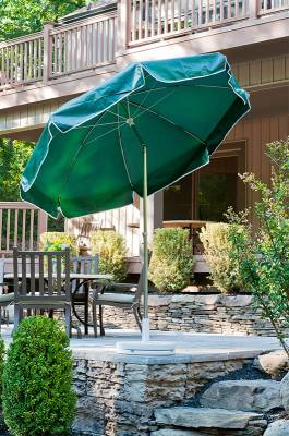 7 1/2 Ft. Catalina Flat Top Umbrella, Fiberglass Ribs - Push Up Style with Tilt - Image 2