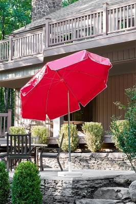 7 1/2 Ft. Catalina Flat Top Umbrella, Fiberglass Ribs - Crank Lift with Tilt - Image 2