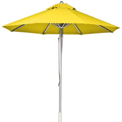Umbrellas & Bases - 11 Ft. Greenwich Heavy Duty Aluminum Market Umbrella - Pulley Lift