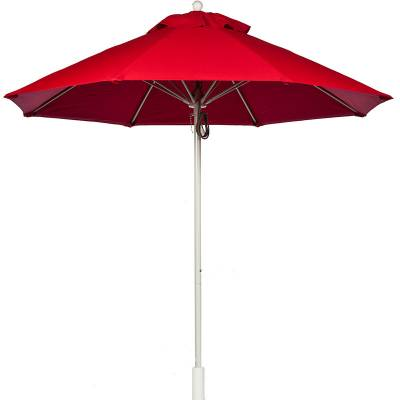 Umbrellas and Bases - Quick Ship Umbrellas - 11 Ft. Commercial Aluminum Market Umbrella, Fiberglass Ribs - Pulley Lift
