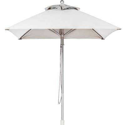 Umbrellas & Bases - Commercial Market Umbrellas - 7 1/2 Ft. Square Greenwich Heavy Duty Aluminum Market Umbrella - Double Pulley Lift