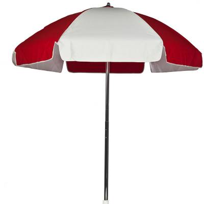 Umbrellas and Bases - Quick Ship Umbrellas - 6 1/2 Ft. Flat Top Umbrella, Steel Ribs - Push Up Style with Tilt