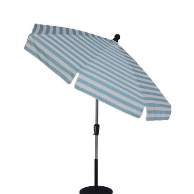 Umbrellas & Bases - 7 1/2 Ft. Commercial Standard Aluminum Umbrella, Fiberglass Ribs - Crank Up Style with Auto Tilt