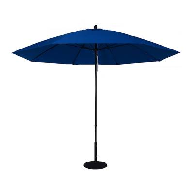 Umbrellas & Bases - 11 Ft. Commercial Aluminum Market Umbrella, Fiberglass Ribs - Push Up Style without Tilt