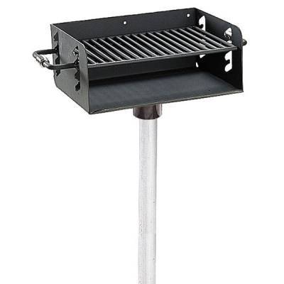 Grills & Fire Rings - Adjustable Rotating Grill, 300 Sq. Inch - Surface Mount