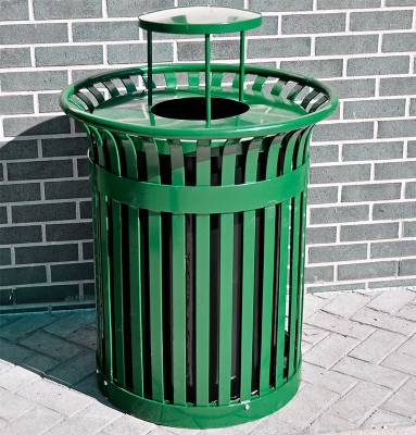 32 Gallon Richmond Steel Trash Receptacle - Quick Ship - Image 2