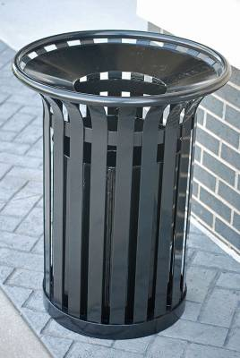 20 and 32 Gallon Providence Steel Trash Receptacle - Quick Ship - Image 2