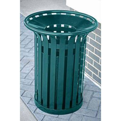Trash Disposal - Outdoor Trash Receptacles - 12 and 20 Gallon Providence Steel Trash Receptacle - Quick Ship