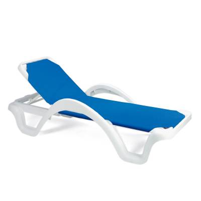 Grosfillex Patio Furniture - Resin Chaises - Catalina Adjustable Sling Stacking Chaise Lounge - Sold in Packs of 2