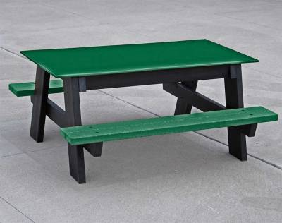 Child's 4' Recycled Plastic A Frame Picnic Table, Portable - Quick Ship - Image 2