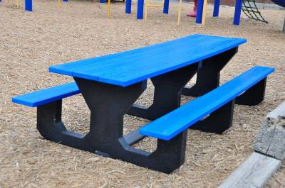 Toddler 6' Recycled Plastic Park Place Picnic Table, Portable  - Image 1