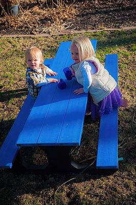 Toddler 6' Recycled Plastic Park Place Picnic Table, Portable - Quick Ship - Image 2