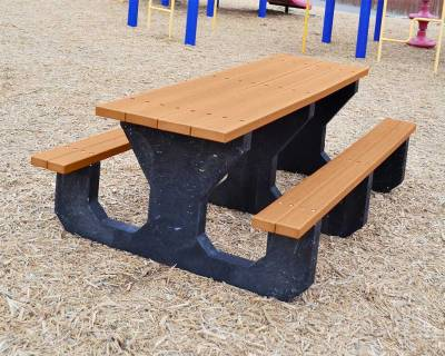 Picnic Tables - Children's Tables - Youth 6' Recycled Plastic Park Place Picnic Table, Portable - Quick Ship