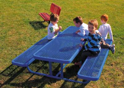Picnic Tables - 4', 6' and 8' Rectangular Preschool Picnic Table - Portable
