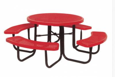 "Picnic Tables - Children's Tables - 46"" Round Preschool Picnic Table - Portable"