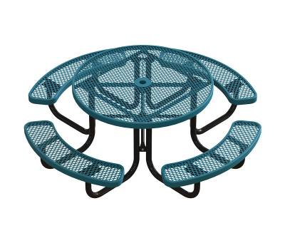 "Picnic Tables - Children's Tables - 46"" Round Elementary Picnic Table - Portable"