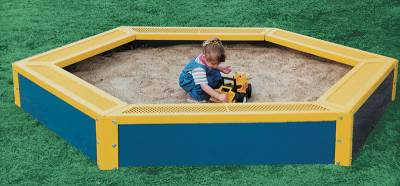 Picnic Tables - Children's Tables - Hexagonal Children's Sandbox