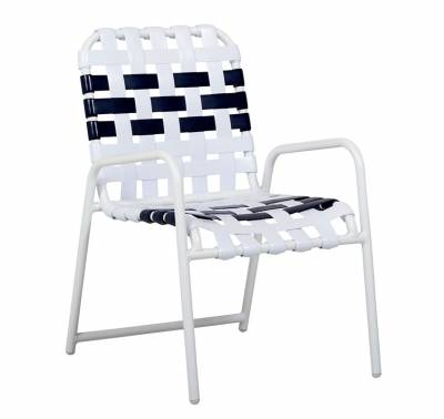 Welded Contract Lido Stacking Cross Strap Chair - Image 2