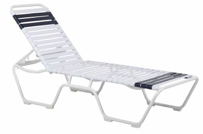 Poolside Furniture - Vinyl Strap Furniture - Welded Lido Contract Stack Strap Chaise