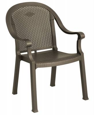 Grosfillex Patio Furniture - Resin Chairs - Sumatra Classic Stacking Armchair